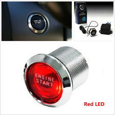 Auto Car Keyless Engine Ignition Start Power Switch Red LED Push Button Starter