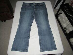 """Maurices Women's Boot Blue Denim Jeans Size 20W Reg Waist 40"""" Inseam 31"""""""
