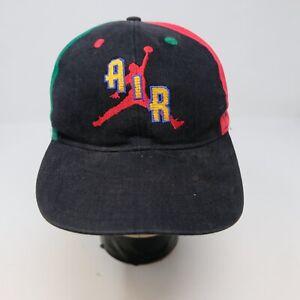 Rare VTG NIKE Air Jordan Jumpman Spell Out Swoosh Snapback Hat Cap 80s 90s Youth