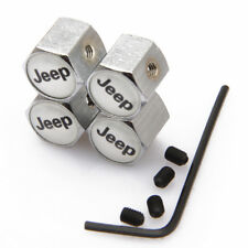 Modified Wheel Tire Valve Stems Caps Anti-Theft Locking For JEEP w Silver jS347