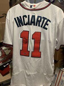 Ender Inciarte Atlanta Braves Signed Autographed Majestic Jersey size 44