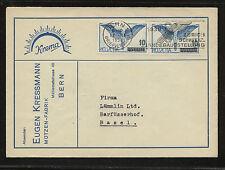 Switzerland  C22 pair on cover   1938         KL0727