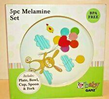 Spring Bunny Melamine 5 pc Plate Set HE10049 by Ganz Baby Ganz  NEW
