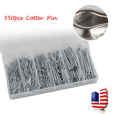 US CE Practical 555pc Industrial Galvanized Iron Cotter Pin Assortment Clip Key
