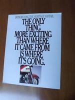 HARLEY DAVIDSON HERITAGE SOFTAIL MOTORCYCLE SALES BROCHURE FLYER 1985 SPECS