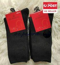 6 Pairs Women Size 2-8 90 Merino Wool Loose Top Socks Medical Circulation Black