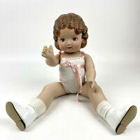 "Vintage 1991 Daisy Kingdom Inc Vinyl Girl Doll 18"" Original Undergarments"