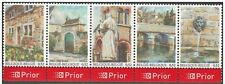 Belgium**WALLONIE VILLAGES-Architecture-Flowers-5stamps from SHEET-2007-MNH