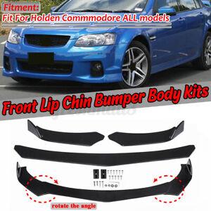 Bright Black Car Front Bumper Lip For Holden Commodore UTE Coupe Monaro VF VS