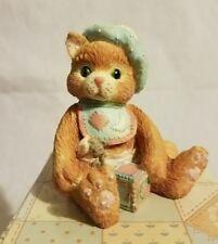 """New Nib Nos 1992 Enesco Calico Kittens """"A Bundle Of Love"""" 628433 W/Box &Tags"""