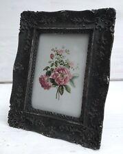 Bilderrahmen dunkelgrau grau Shabby Vintage Stil z Aufstellen Bg.: 8 x 11,5cm