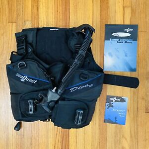 Aqualung Seaquest DIVA QD Scuba Diving BCD Women's XS Extra Small With Airsource