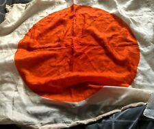 More details for  silk japan national flag  38 x 28 inch plain from 1946 serviceman souvenir