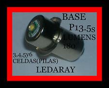 BOMBILLA LED, PARA CUALQUIER LINTERNA CON(BASE P13.5s) 3,4,5y6 CELDAS(PILAS).