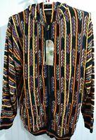 """Akcess Ak:cess Men's 2XL soft hooded jacket """"Coogi"""" color-esqe style Multicolor"""