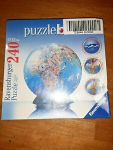Ravensburger 3-D World Globe Puzzle Ball 240 Pieces Age 10+ ~FACTORY SEALED