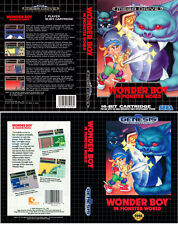 - Wonder Boy In Monster Mega Drive Replacement Box Art Case Insert Cover Only