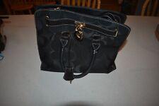 Black Coach Tote bag/hand bag canvas, satin