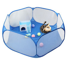 BW#A Foldable Pet Fence Game Safe Playpen Animal Cage for Hamster Guinea Pig