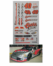 Sterling Marlin #40 Coors Light 1/64 scale decal AFX Tyco Lifelike Autoworld
