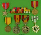 MARINE CORPS VIETNAM 6 MEDALS - MOUNTED 8 RIBBON BAR - USMC