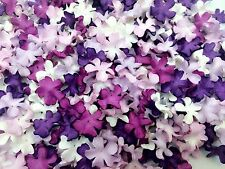 50 Mixed Purple Tone & White Flowers mulberry paper for Craft & D.I.Y #01