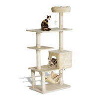 "New PawHut 60"" Cat Tree Scratching Scratcher Condo Pets Kitten Climbing Post"