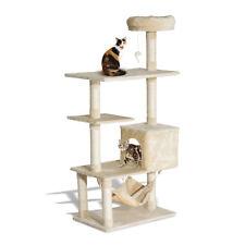 "New PawHut 60"" Cat Tree Scratching Scratcher Condo Pets Kitten Climbing Post"