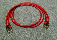 Van Damme - Monster Silver Plated OFC RCA Phono Interconnect Ultra Cable Red 1m