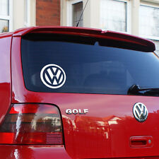 "Volkswagen logo sticker 5""wide also available in black"
