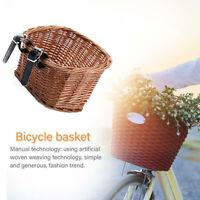 Bicycle Front Rattan Basket Willow Woven Basket Handlebar Storage Wicker Baskest