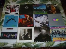 Lot 12 Vinyl Lp Album Pop Rock Madonna Heart U2 Billy Idol Yes Kinks More Poster