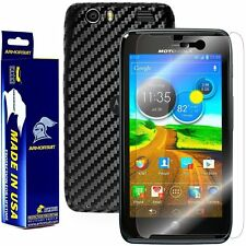 ArmorSuit MilitaryShield Motorola Atrix HD MB886 Screen Protector + Black Carbon