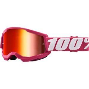 100 Percent 100% Strata 2 Goggle - Fletcher - Red Mirror - 50421-252-08 - MX MTB