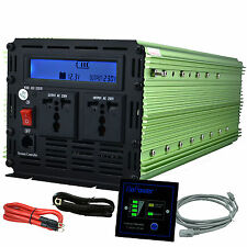 EDECOA 3000W 6000W 12V dc to  220V ac  Car Power Inverter LCD & cables & remote