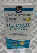 Nordic Naturals Ultimate Omega Lemon taste 60 softgels NEW
