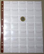 FOGLI per MONETE da 35 CASELLE inserto UNI masterphil PACCO 10 FOGLI pagine
