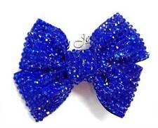Accessoires de coiffure bleues en acrylique pour femme