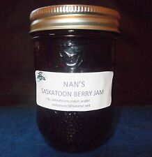 Nan's Wild Saskatoon Berry Jam Preserves Homemade in Saskatchewan   6 jars