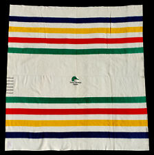 Ducks Unlimited Hudson'S Bay 6 Point Queen Blanket White Wool Colorful Stripes