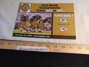 The Danbury Mint NFL Super Bowl Flip Coin Super Bowl 1 Green Bay vs Kansas City