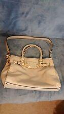 Women's Vanilla white pebbled leather Michael Kors Hamilton Tote handbag