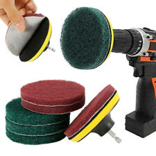 8PC Brush Scrubber Power Scrub Pad Tile Tire Cleaning Kit For Car Polisher Drill