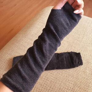 Women Winter Arm Warmers Cashmere Fingerless Long Gloves Solid Warm gift Gloves