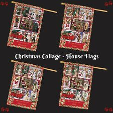 Love is Being Owned Christmas House flag, Dogs, Cats, Pet Photo Flags Decor