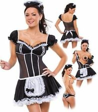 Halloween SEXY NAUGHTY Waitress MAID COSTUME OUTFIT PARTY DRESS FANCY HEN NIGHT