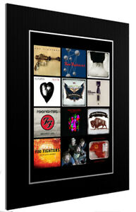 MOUNTED / FRAMED PRINT FOO FIGHTERS  DISCOGRAPHY - DIFFERENT SIZES POSTER ART