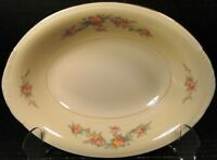 """Homer Laughlin Eggshell Nautilus Darcy Oval Serving Bowl 9 1/4"""" Rare Excellent"""