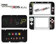 72# Minnano Pokemon Scramble Vinyl Decals Skin Stickers for Nintendo New 3DS XL