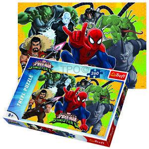 Trefl 260 Piece Kids Boys Marvel Spiderman vs Sinister 6 Jigsaw Puzzle NEW